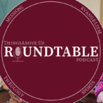Roundtable logo with VBS and a child in a pew in front of her mother